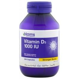 Blooms Vitamin D3 1000IU x 200c