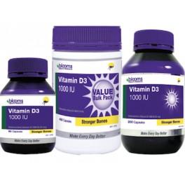 Blooms Vitamin D 3 1000IU x 200c
