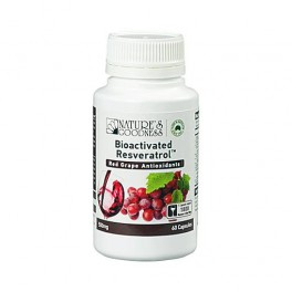 RESVERATROL RED GRAPE ANTIOXIDANTS CAPSULES 500MG/ 60S (CLEARANCE)