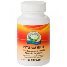 Psyllium Hulls 500mg 100caps