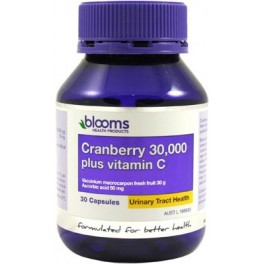 Blooms Cranberry 30,000mg + Vitamin C 30 Caps