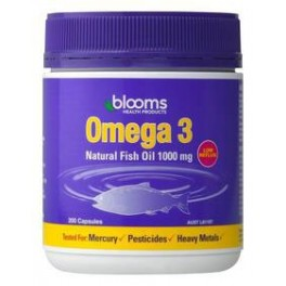 Blooms Omega 3 Natural Fish Oil 1000mg