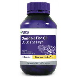 Blooms Omega 3 ODOURLESS DOUBLE STRENGTH Fish Oil 90 caps